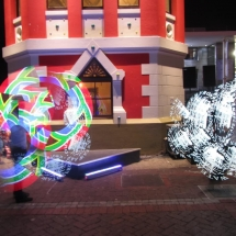 Waterfront Cape Town NYE Logo Lights performance